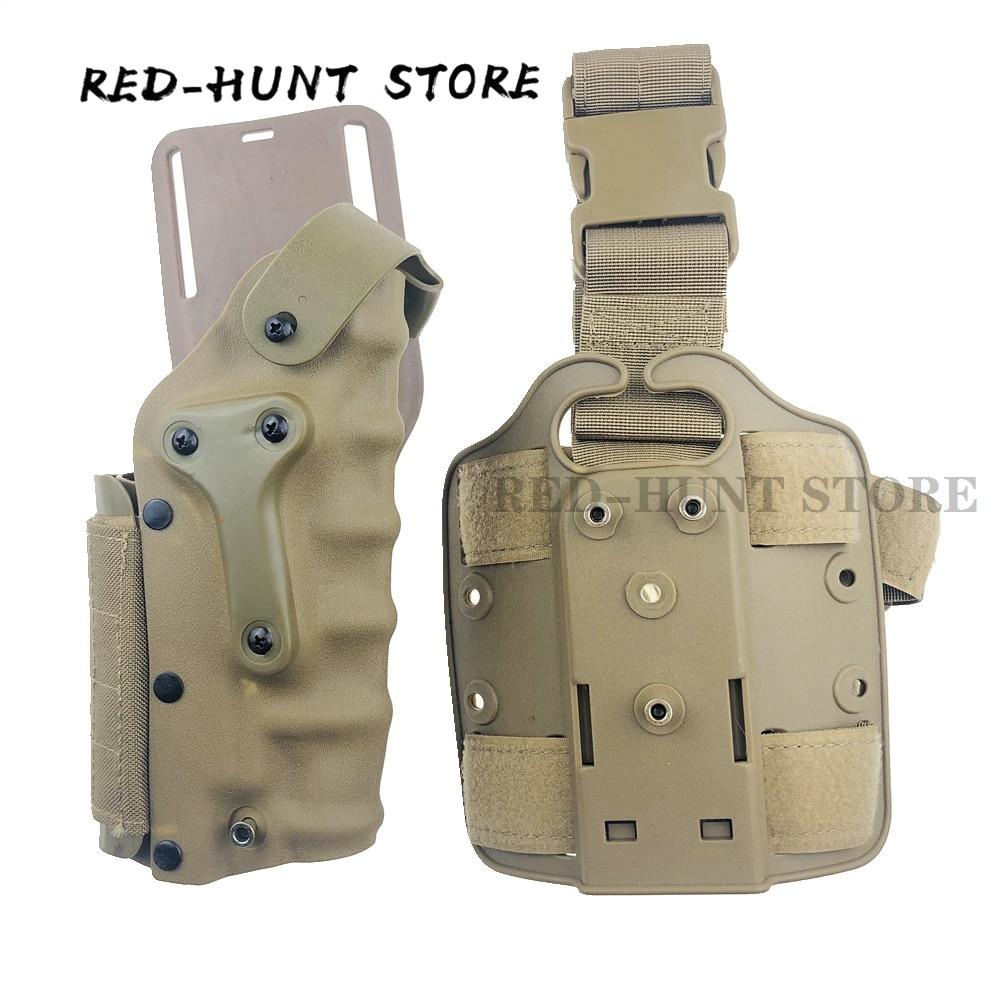 Usp/glock 17/p220 rgiht mão esquerda arma coldre tático gota perna coldre caso perna plataforma cintura coldre para a caça