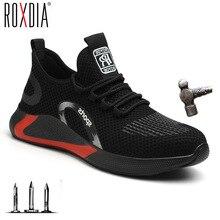 Toe-Cap Shoe Work-Sneakers Anticollision Steel Fashion Casual Women Brand RXM201 37-45