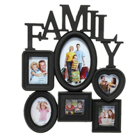 Family Photo Frames Wall Hanging Combination 6 Pictures Holder Display Wedding Home Decor Accessories 31x38cm P7Ding