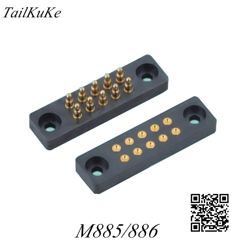 10P Probe Connector Spring Thimble Charging Spring Needle Conductive Connector Electronic Shock M885/10P