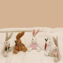 Páscoa 25cm coelho brinquedo de pelúcia dormir companheiro presente do bebê páscoa decoração coelho da páscoa boneca bebê menino e menina brinquedos do bebê