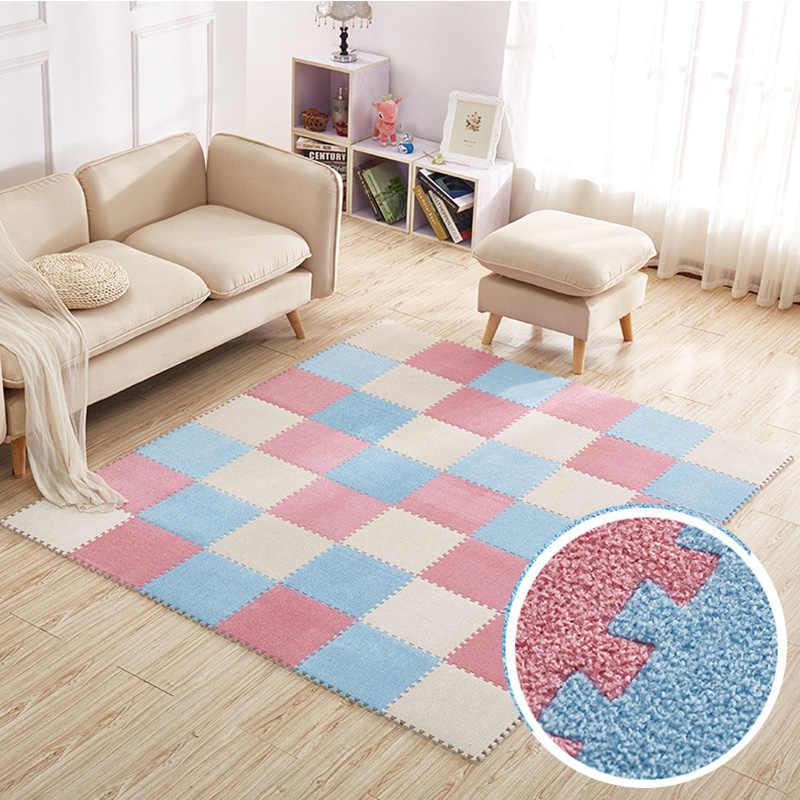 Top vente 30*30cm tapis salon chambre enfants enfants doux tapis magique Patchwork puzzle épissure têtes escalade bébé tapis