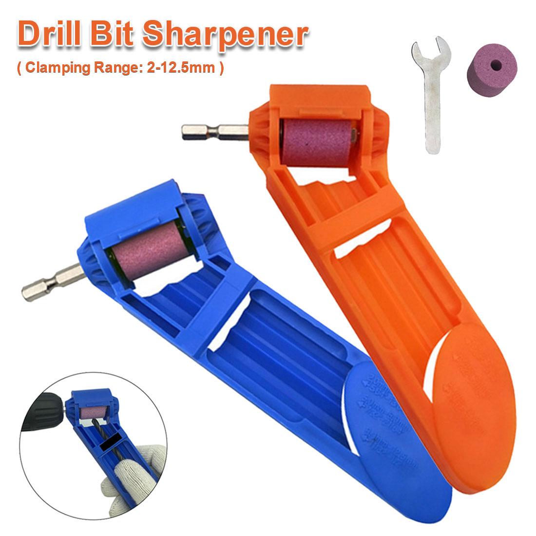 Drill Bit Sharpener Corundum Grinding Wheel Grinder Tool Drill Sharpener Power Tool For 2-12.5mm Twist Drill Edge Grinder