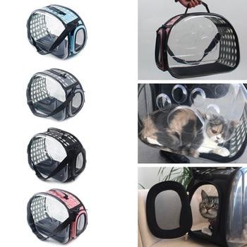 Pet Cat Dog Carrier Bag Space Capsule Foldable Breathable Pet Travel Bag Outdoor Dog Cat Backpack Small Pet Carrying Handbag недорого