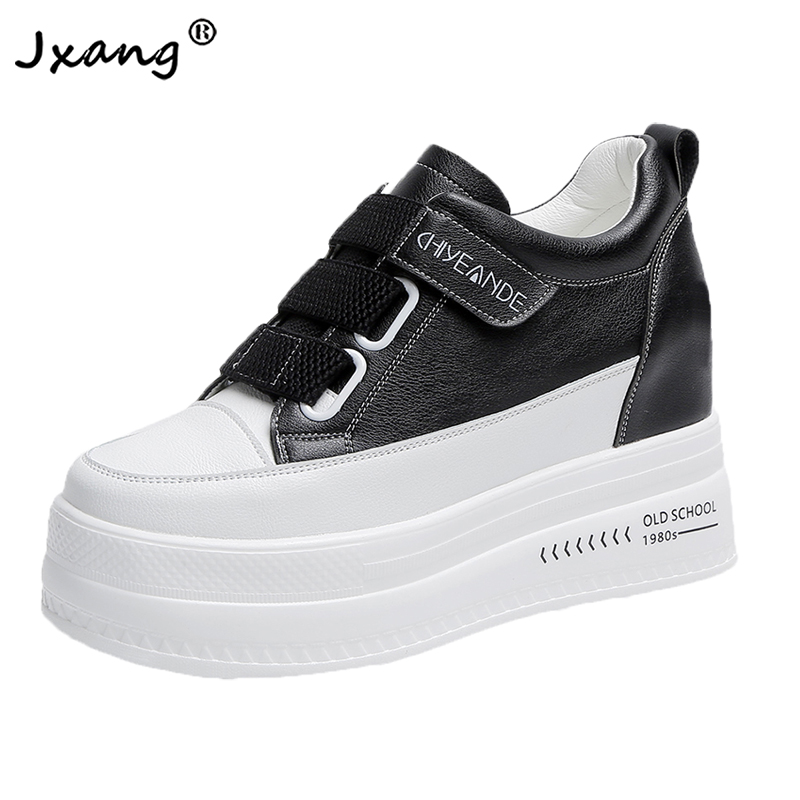 JXANG 2020 New Women's Thick-soled Sneakers Fashion Outdoor Casual Ladies Vulcanized Shoes Ladies Increase Zapatos De Mujer