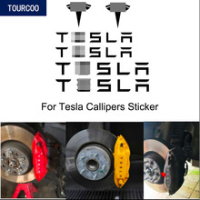 Car Calipers Stickers for Tesla model 3 S X Y Car Styling Modification Accessories