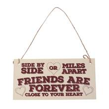 Wood Hanging Drop Friendship English Word Hanging Decor for Home Store Party(China)