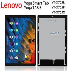 Oryginalny nowy wyświetlacz dla Lenovo yoga zakładka 5 Smart tab PRC WOR YT-X705L YT-X705X YT-X705F LCD z montaż digitizera ekranu dotykowego
