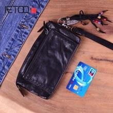 купить AETOO  Brand Fashion Vintage Genuine Leather Cowhide Women Long Wallet  Women's Purse Female Leather Clutch Bag wallets по цене 3408.97 рублей