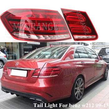цена на MZORANGE Inner And Outer LED Tail Light For Mercedes-Benz E Class W212 2009-2013 Tail Brak Bumper Tail Lamp Car Light Assembly