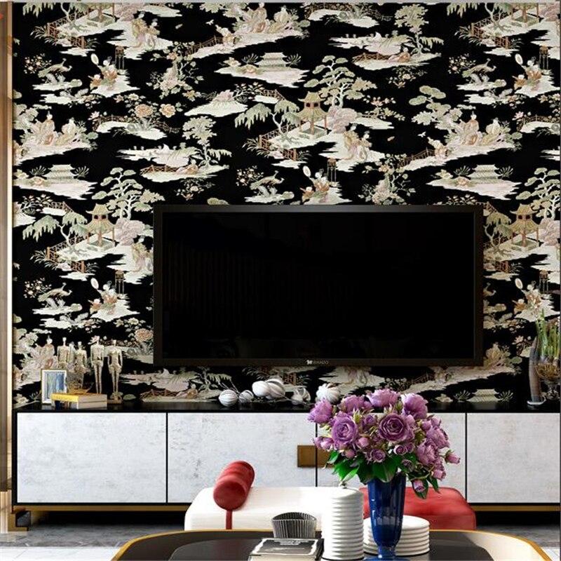 Wellyu chinois classique papier peint paysage peinture encre salon chambre thé maison hôtel restaurant papier peint - 3