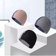 Intarsia Color Matching Knit Hat Winter Autumn Men Women Lovers Wool Hat Skull Caps Plus Velvet Core Yarn Hat Unisex Warm Hats renaissance intarsia