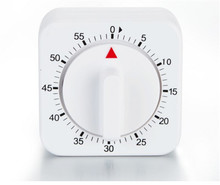 60 Minuten Kookwekker Count Down Alarm Herinnering Wit Vierkante Mechanische Timer Voor Keuken