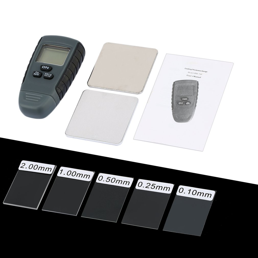 RM660 Digital  Coating Thickness Gauge Car Paint Thickness Meter Paint Thickness Tester Thickness Gauge LCD Display Digital Tool