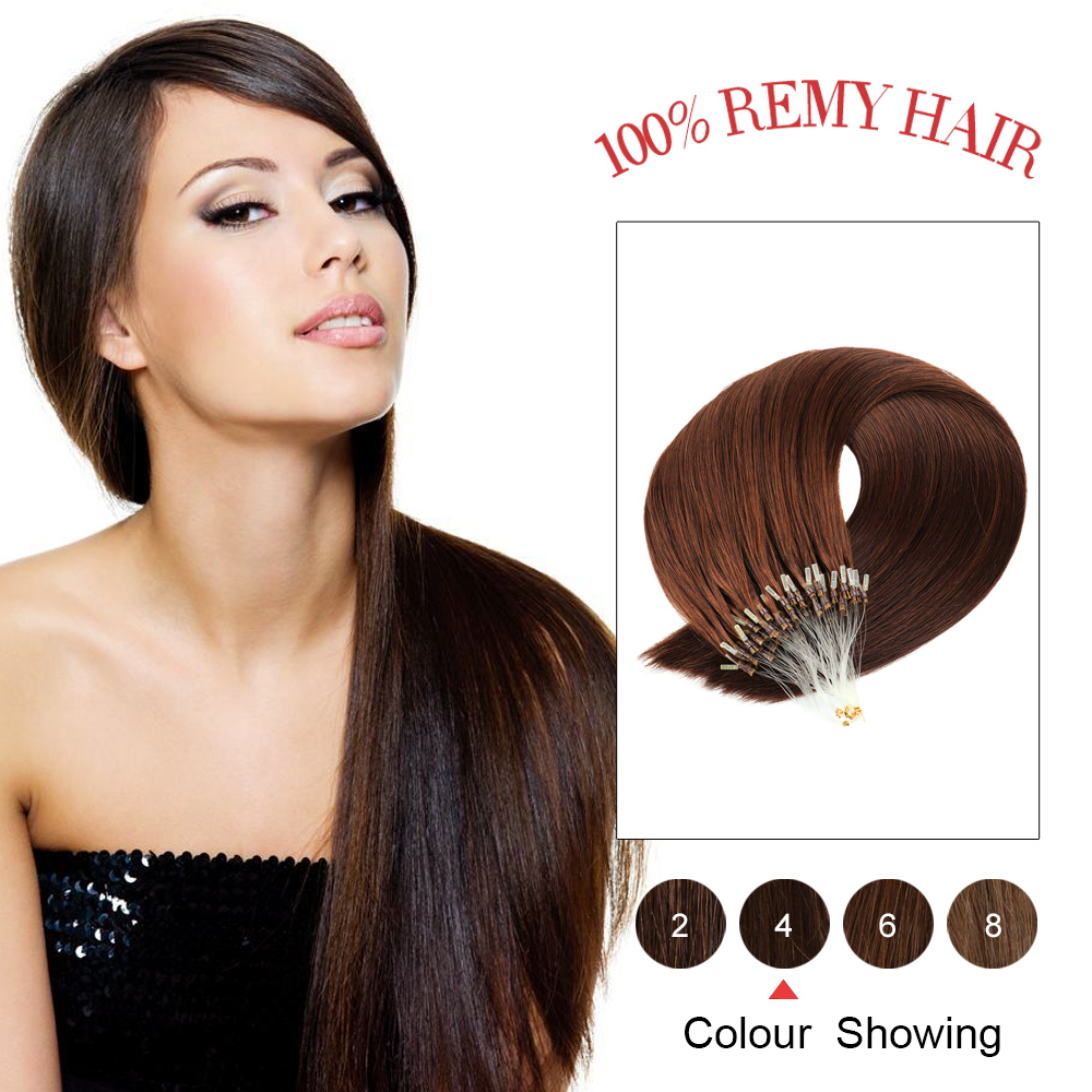"""Gazfairy Straight Loop Micro Ring Hair 16"""" 18'' 20"""" 22"""" 24'' 25g 50g Pure Color Human Micro Bead Links Real Remy Hair Extensions"""