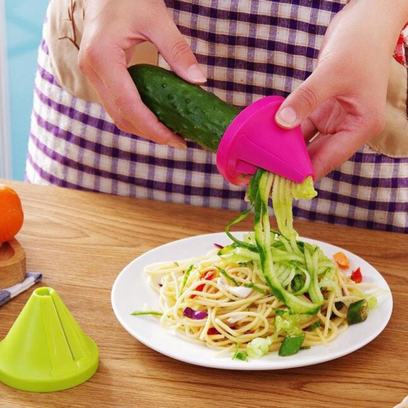 Овощной Спайсер, скручиватель, ручной спиральный резак, фруктовая терка, инструменты для приготовления пищи, спагетти, паста, кухонный гадж...