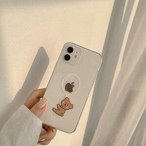 Image 4 - Transparent Cartoon Bear Cover Case For iPhone 12 12min 12Pro 12ProMax 11 11Pro 11ProMax SE2020 X XS XSMAX XR 7 8 7Plus 8Plus
