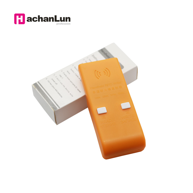 Handheld 125/250/375/500KHz RFID ID  Card Writer/Copier Duplicator Rewritable ID Keyfobs Tags Card Programmer Reader