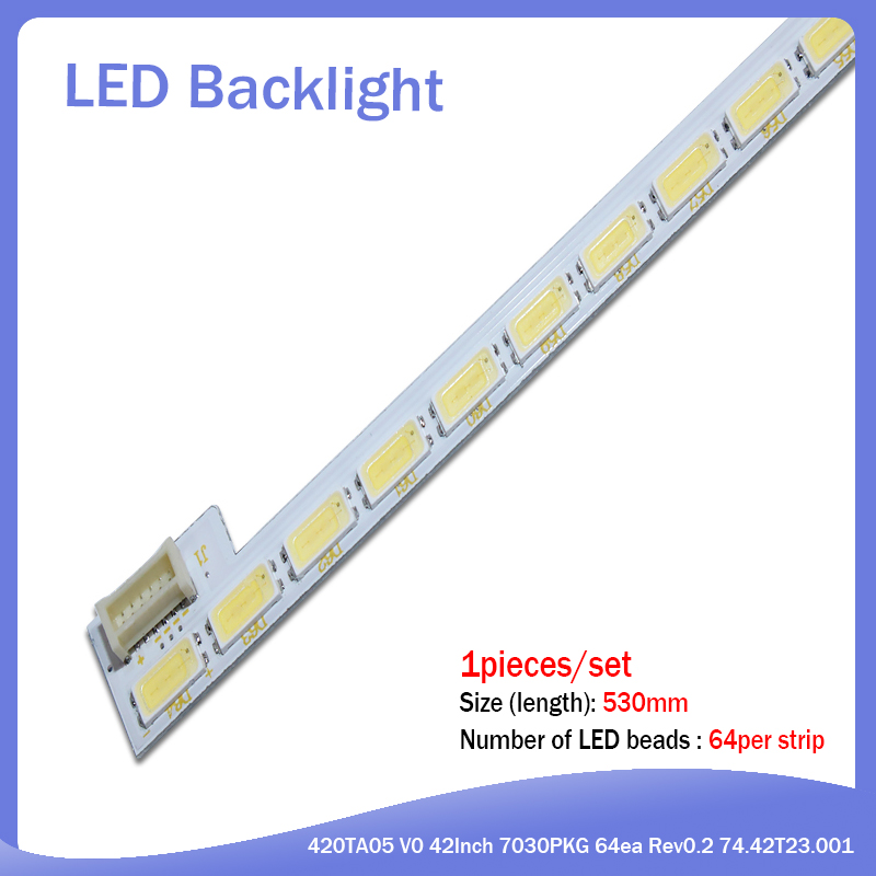New 20PCS/lot 530mm LED Strip For LG Innotek 42Inch 7030PKG 64EA 74.42T23.001 AUO TOSIBIA AU T420HVN01.1 T420HW06 T420HW04