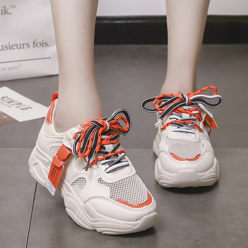Chunky Sneakers Women Shoes Platform High 5CM Comfortable Breathable Casual Shoes Tenis Feminino Luxury Shoes Women Designers