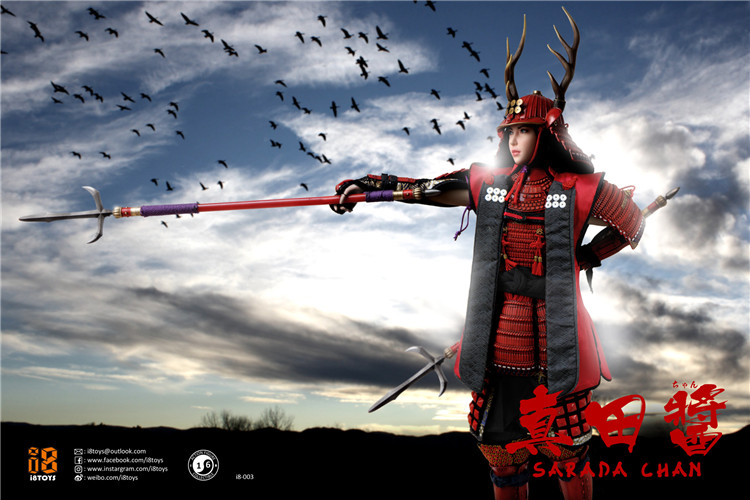 I8-003 1/6 Scale Japanese   Warrior Sarada Chan Full Set Action Figure Doll   Model Toys Gifts Collections 1