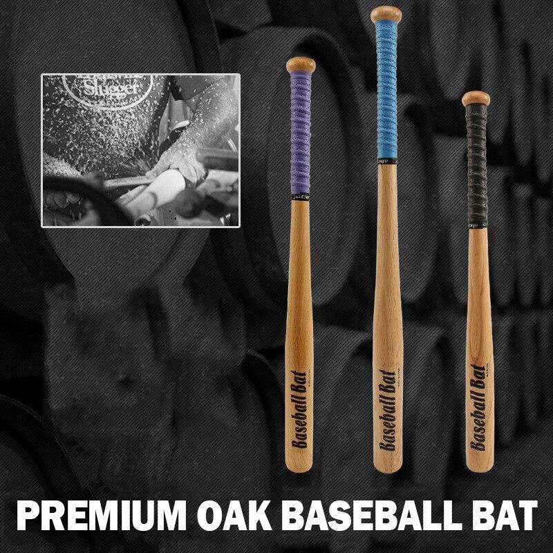 61cm 74cm 78cm Solid Wood Oak Baseball Bat High Quality Car Self Defense Weapon Softball Rod Hardwood Outdoor Equipment Bats