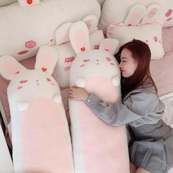 80~120cm Giant long Lolita Bunny Stuffed hug Pillow Pink Rabbit Girl Sleeping Throw Pillow Pregnant pillow Boyfriend Pillow