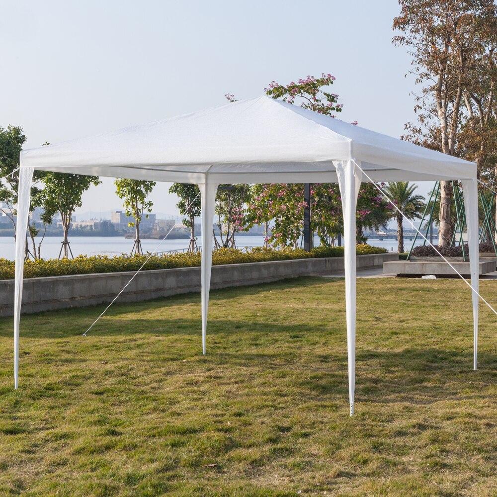 3x3 м беседка палатки белый водонепроницаемый сад палатка беседка навес открытый шатер рынок палатка тень лето вечеринка свадьба