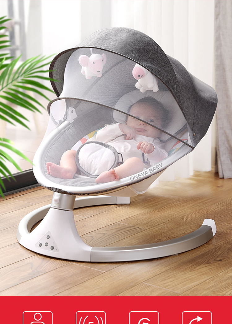 H89f14aa9555447a6bc1885b067c11924j Baby rocking chair newborn shaker baby electric cradleartifact with sleeping comfort