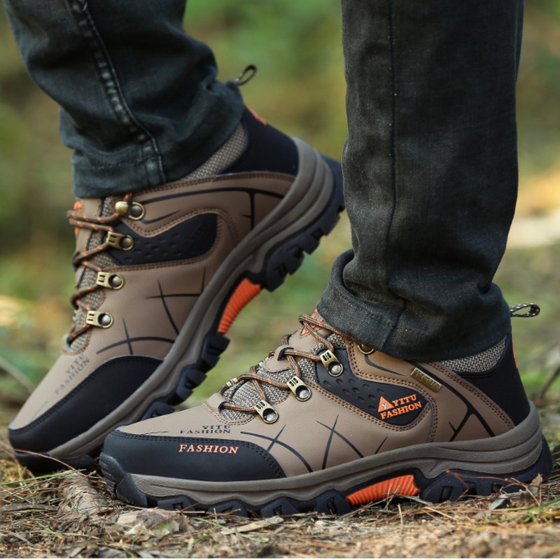 Sneakers Trekking-Shoes Military Mountain-Climbing Outdoor Waterproof Lace-Up Brand Men title=
