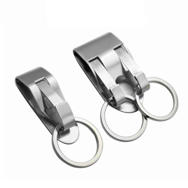 Portachiavi In Acciaio Inox di Sicurezza Clip On Heavy Duty Chiave Cintura Clip da Cintura Cintura Portachiavi della catena Chiave