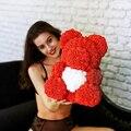 Прямая поставка, 40 см, плюшевый мишка розы, искусственные цветы, медведь розы из полиэтилена для женщин, украшение для дома на свадьбу, Рожде...