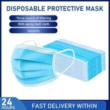 3 слойная маска от загрязнения, маски для защиты от пыли, одноразовые маски для лица, эластичная Ушная петля, одноразовая Защитная маска с фильтром от пыли