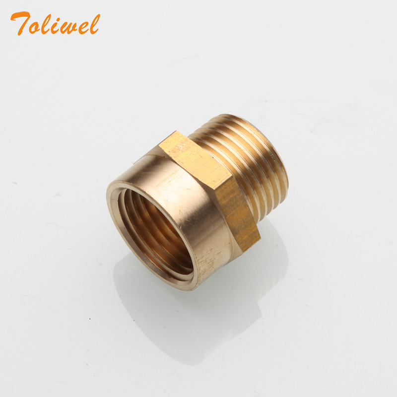 "1/2"" G Thread (BSP) Female To 1/2"" NPT Male Connector BSP To NPT Adapter 1/2 Inch Industrial Metal Brass G Thread To Fittings"