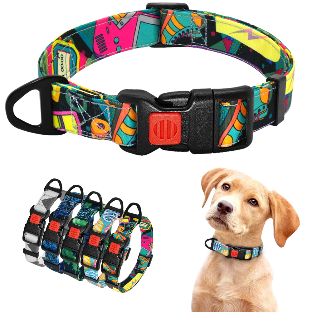 Nylon Puppy Collar Pet Dog Collar Printed Bohemian Style Small Dogs Collar For Chihuahua French Bulldog Beagle Pet Products