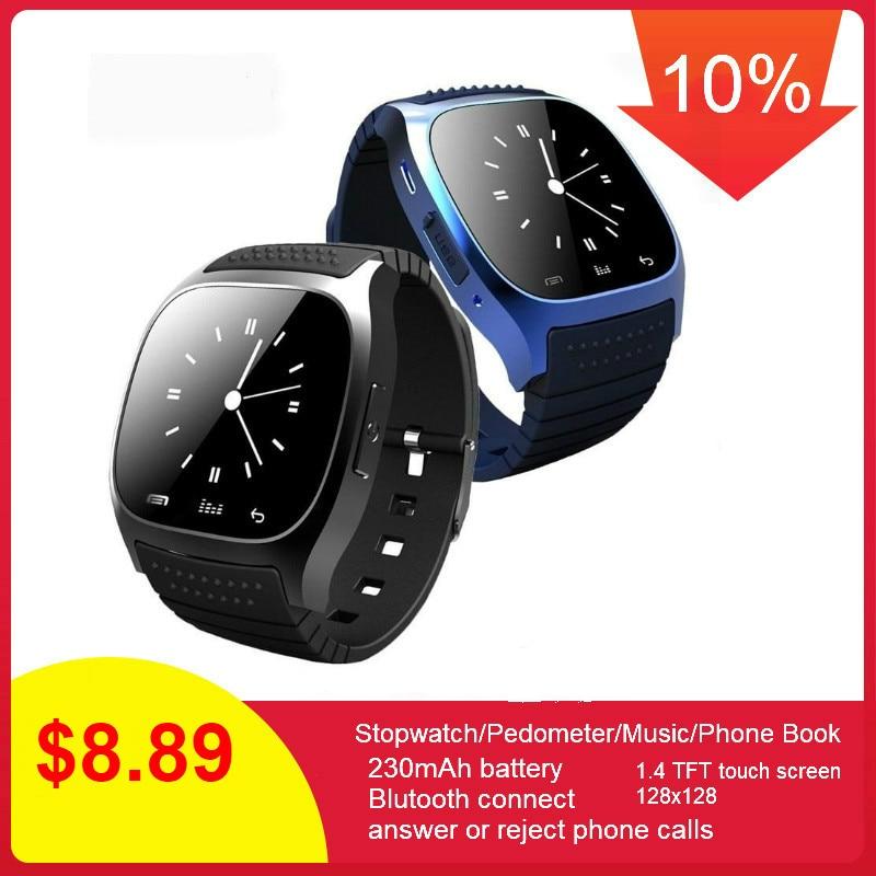 696 à prova d' água M26 Smartwatch Bluetooth Relógio Inteligente Diariamente à prova d' água LEVOU Exibição Para Android Telefone