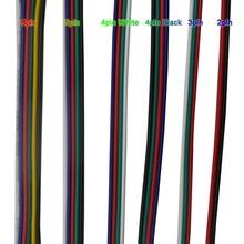 50/100 เมตร 2PIN 3pin 4Pin 5Pin 6Pin 22 AWG สายเคเบิลสายไฟ LED สำหรับ 5050 3528 RGBW RGB CCT LED Stirp