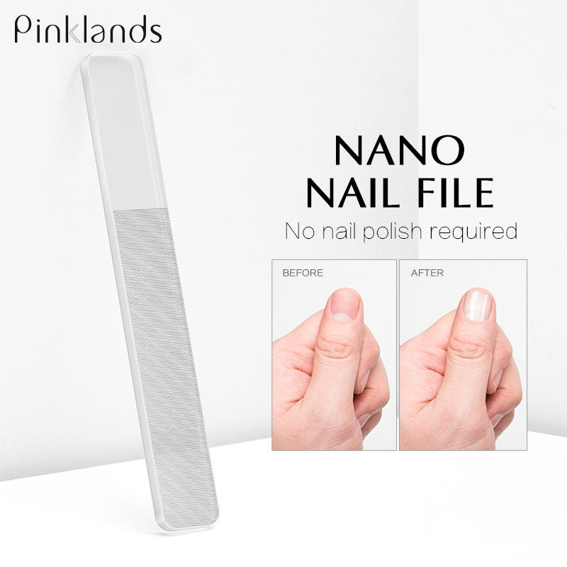 Transparent Nano Glass Nail File Professional Sanding Polishing Glass Cleanable Shiny Grinding Buffer Nail Art Manicure Tool