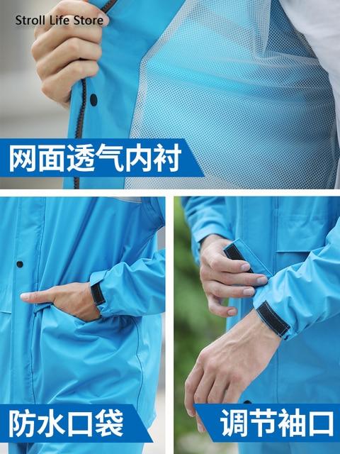 Adult Waterproof Rain Coat Pants Split Battery Motorcycle Raincoat Hiking Waterproof Suit for Fishing Breathable Chest Waders 2