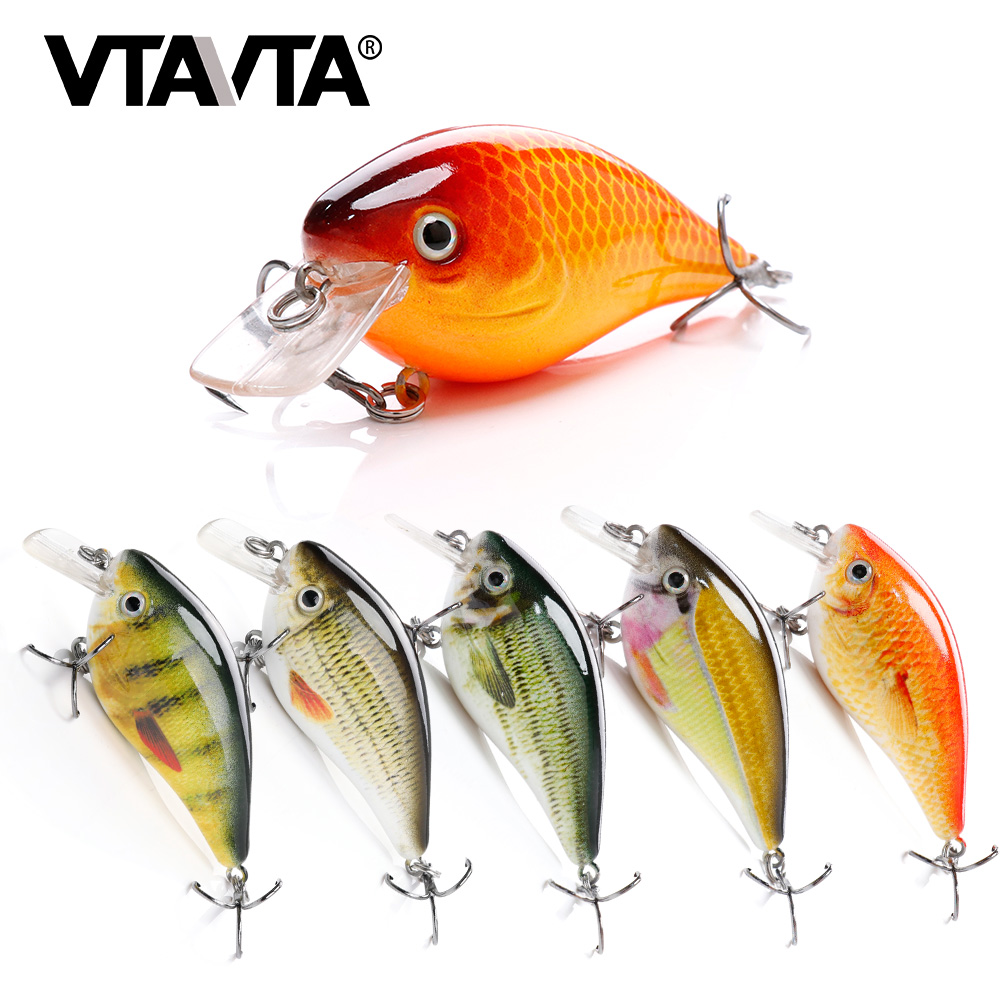 VTAVTA 6cm 12g Rattling Crankbaits Fishing Lure Hard Floating Wobblers Artificial Bait for Fishing Pike Wobler Lures Crank Bait