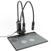 6 Вт 6500 к светильник с гусиной головкой, точечный светильник, лампа осветителя, промышленный микроскоп, двойной светодиодный светильник для стерео микроскопа