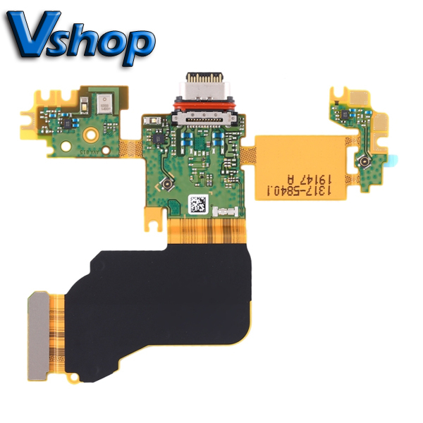 For Sony Xperia 1 Charging Port Flex Cable + Microphone Flex Cable for Sony Xperia 1 mobile Phone Replacement Parts