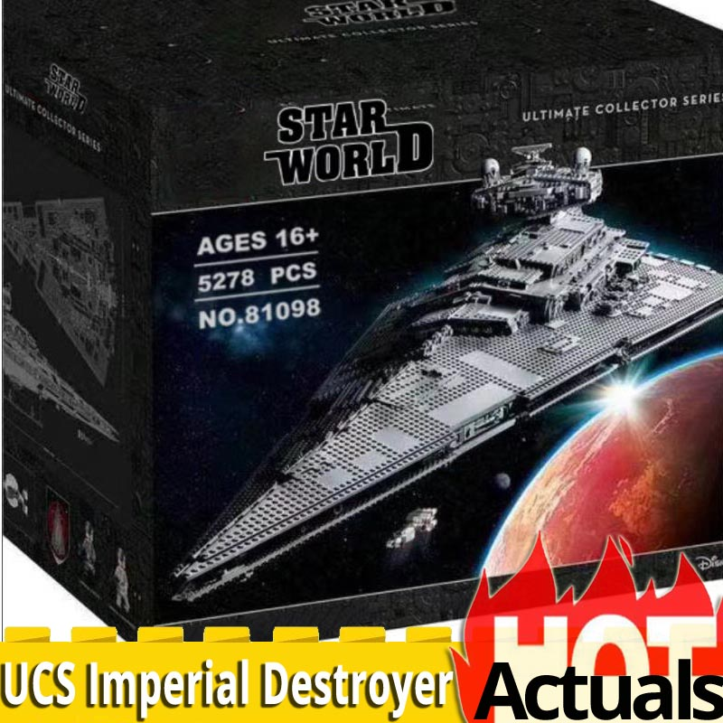 81098 Ultimate Collector Series 5278PCS Max Imperial Star Destroyer Spaceship Building Blocks Brick Legoinglys Star Wars 75252