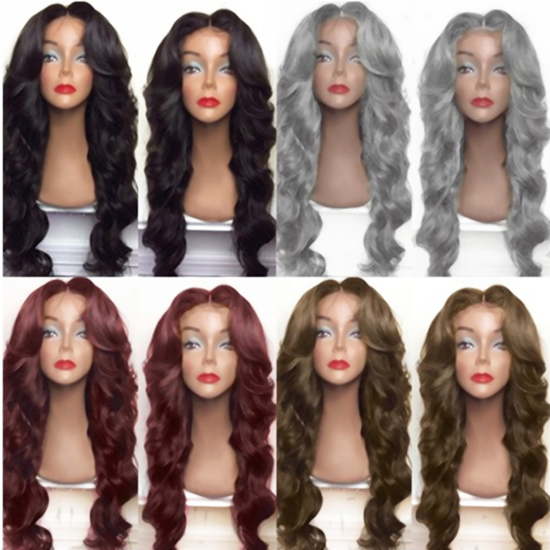 High Quality Synthetic Hair Lace Front Wigs With Natural Hairline Heat Resistant Fiber Hair Glueless Lace Wigs With Baby Hair