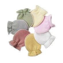 2 пары детских перчаток для новорожденных, детские перчатки из органического хлопка, зимние теплые детские перчатки с защитой от царапин, варежки для маленьких мальчиков и девочек