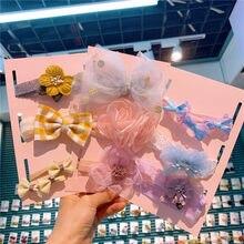 Bandeau élastique en coton et dentelle pour bébé fille, 3 pièces, accessoires de cheveux, joli nœud, princesse, cadeaux d'anniversaire