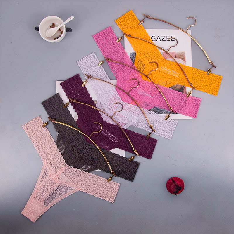 8color Gift  Beautiful Lace Leaves Women's Sexy Lingerie Thongs G-string Underwear Panties Briefs Ladies T-back  1pcs/Lot Ac70