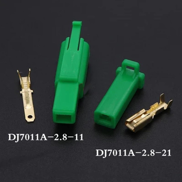 Connecteur de fil électrique automobile   Vert, 2.8mm 1P 2P 3P 4P 6P 9P, kit de terminal de câble mâle femelle moto voiture