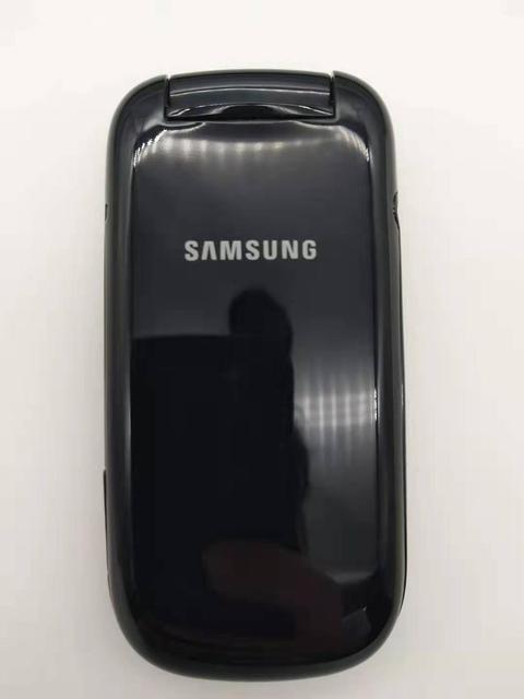 100% Original Unlocked Samsung Flip E1272 phone Dual Sim Card GSM 2G Bluetooth FM Radio Mobile phone Free shipping