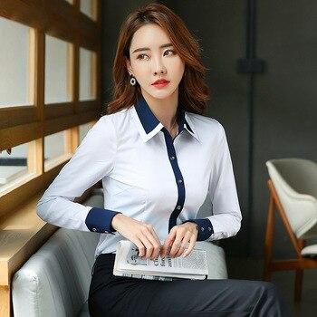 Elegant Office Ladies Women Shirts Woman Blouses Slim Tops and Blouses Long Sleeve Ladies Shirts Blusas 4XL Women Blouses фото